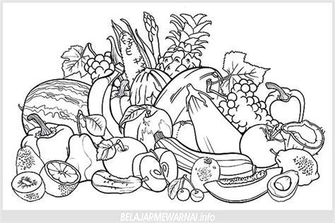 koleksi gambar mewarnai buah terbaru