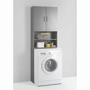 meuble pour machine a laver olbia achat vente colonne With meuble machine a laver encastrable