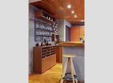 Dazzling wall mounted wine racks in Home Bar Contemporary