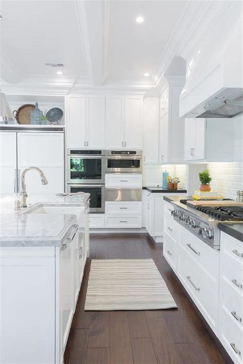 double ovens   warming drawer transitional kitchen