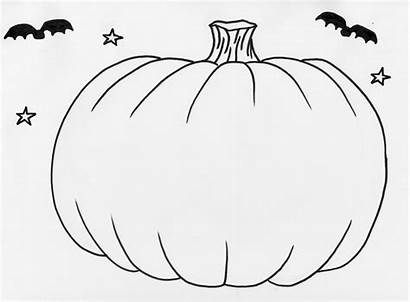 Pumpkin Outline Printable Blank Coloring Template Pages