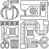 Sewing Machine Embroidery Pages Tools Drawing Patterns Applique Hand Sew Colouring Template Adults Urbanthreads Coloring Templates Clip Designs Paper Neat sketch template