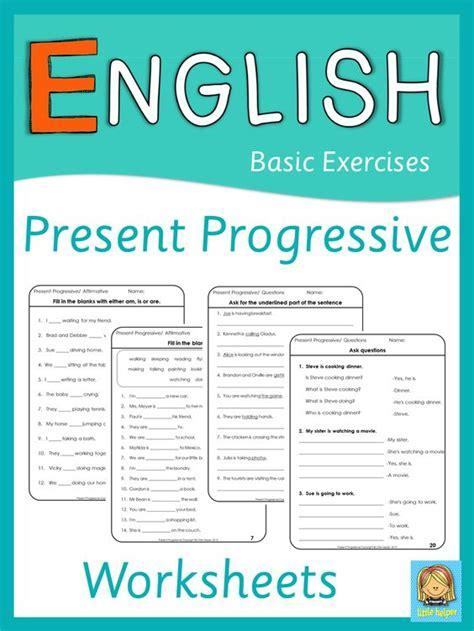 Esl Present Progressive Worksheets  Esl Lessons, Sentences And Presents