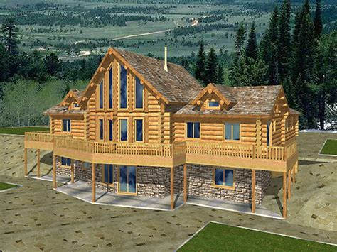 log home plans  walkout basement log home plans  basement log houses design