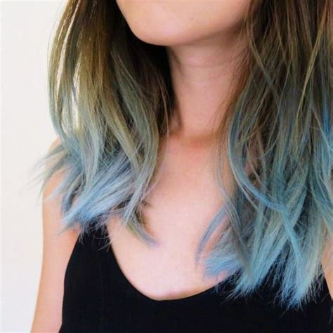 blue hair hair pinterest dr  blue tips  dye