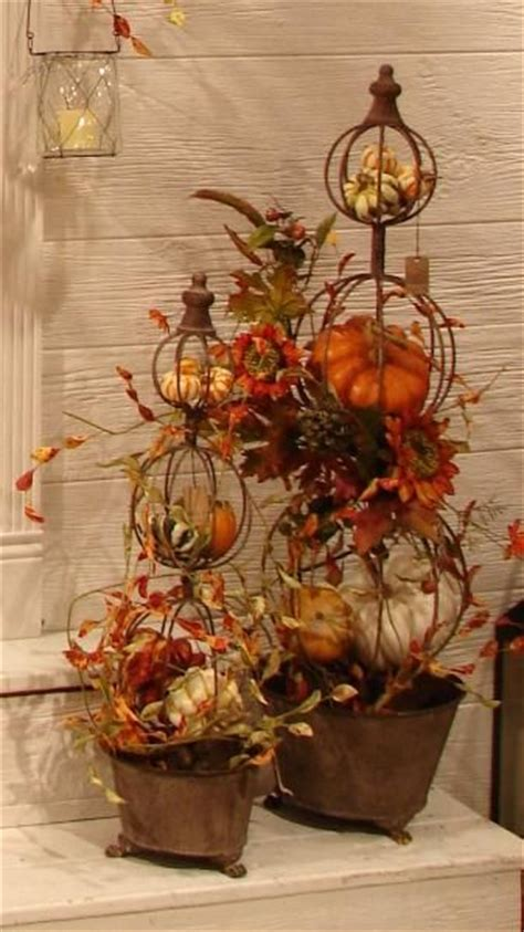 Topiaries, Autumn And Fall Topiaries On Pinterest