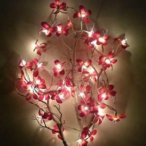 Guirlande Lumineuse Fleur : guirlande lumineuse guirlande lumineuse de 35 fleurs de frangipanier artificielles ~ Teatrodelosmanantiales.com Idées de Décoration
