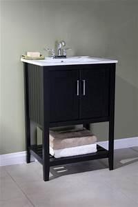 Legion 24 Inch Traditional Bathroom Vanity Espresso Finish