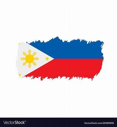 Flag Philippines Vector Vectorstock Royalty