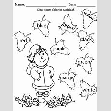 Fall Coloring Pages And Activities  Sight Words, Reading, Writing, Spelling & Worksheets