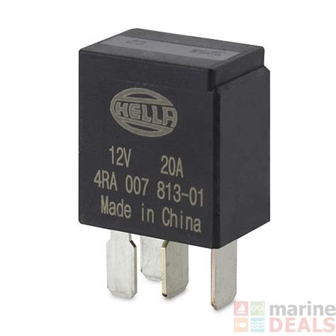 buy hella marine 12v 4 pin normally open micro relay 20a resistor at marine deals co nz