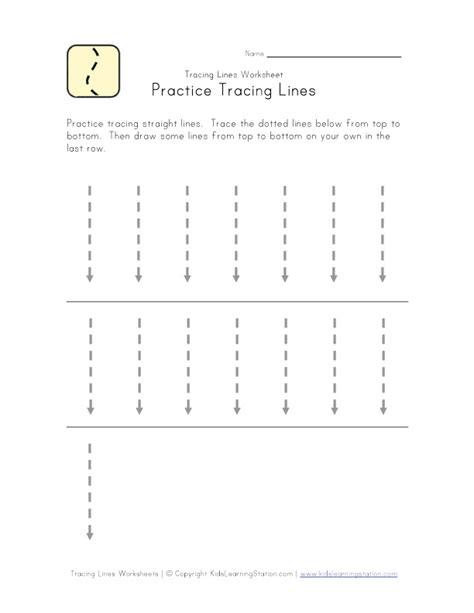 tracing vertical lines education printable worksheet
