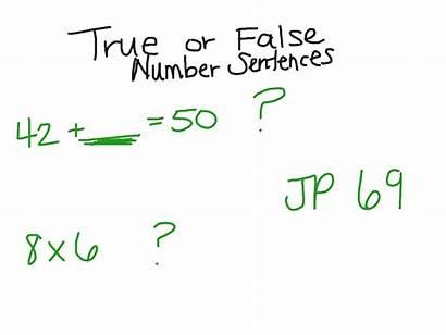 True Number False