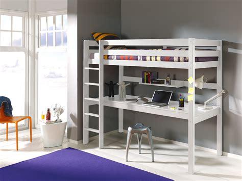 lit mezzanine bureau ado lit mezzanine 1 place avec bureau clara en pin massif so