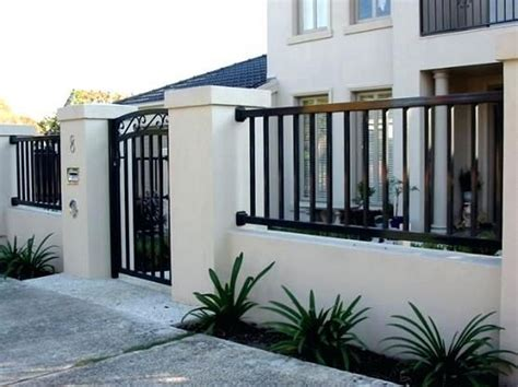 simple house architecture  design  modern philippines style house fence design