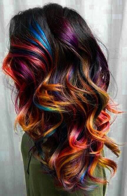hair with colored highlights 25 best ideas about rainbow hair highlights on