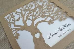 laser cut invitation rustic wedding invitation laser cut With wedding invitation tree wood laser cut