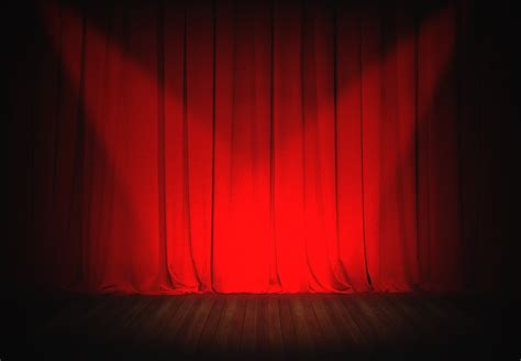 open red curtain background