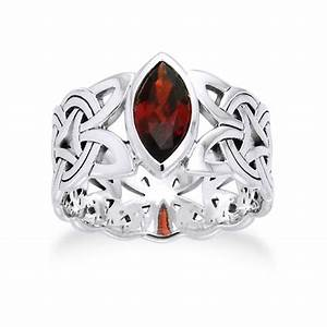 borre knot garnet ellipse viking braided wedding band With norse wedding rings