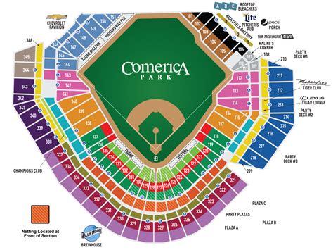Comerica Seating Chart - Kansas city royals at detroit ...