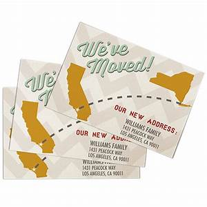 personalised change of address moving cards helloprint With address cards printed