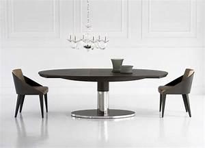 Table Ovale Design : table ovale extensible design ~ Teatrodelosmanantiales.com Idées de Décoration