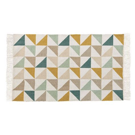 chambre bebe garcon vintage tapis motif triangles en coton 60 x 100 cm gaston