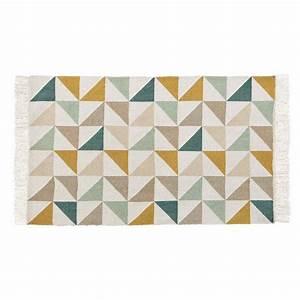 Tapis Scandinave Maison Du Monde : tapis motif triangles en coton 60 x 100 cm gaston maisons du monde ~ Nature-et-papiers.com Idées de Décoration