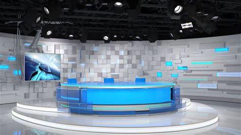 virtual tv studio   model max obj    tv set