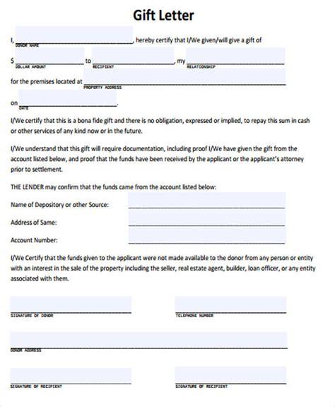 sample gift letter  mortgage amulette