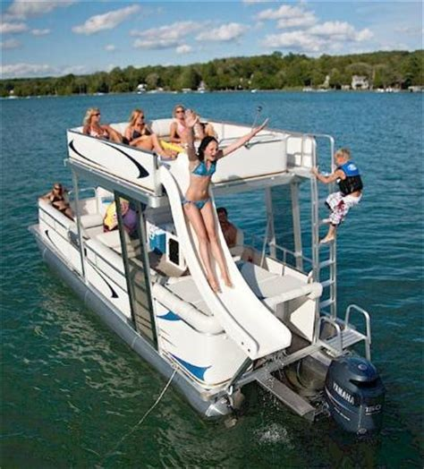 boat tours miami double deck pontoon boat with slide
