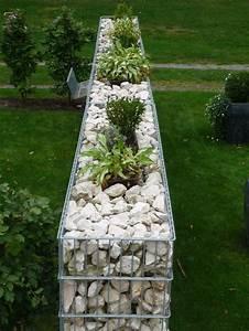 die besten 17 ideen zu gabionen auf pinterest turmgarten With französischer balkon mit garten steinmauer gabione