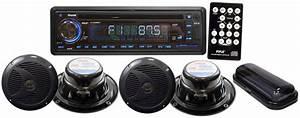 Amazon Com  Pyle Plcd4mrkt Stereo Radio Headunit Receiver  U0026 Speaker Kit  Aux  3 5mm  Mp3 Input