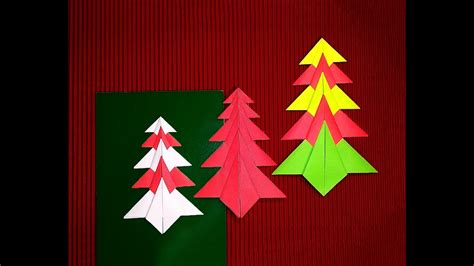 Easy Origami Christmas Tree. Paper Christmas Tree