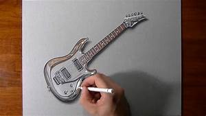 Drawing Time Lapse: Joe Satriani's guitar - YouTube