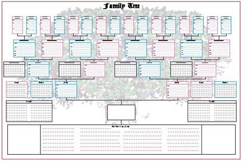 large blank family tree template