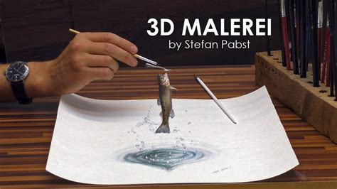 3d Zeichnen by 3d Malerei Illusion Forelle Speed Painting Drawing Optical
