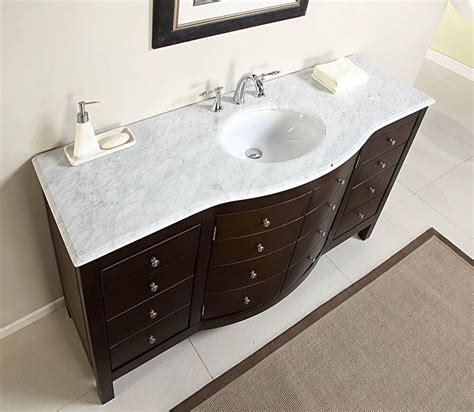 Bathroom Vanity 60 Single Sink by 60 Quot Large Single Sink Bathroom Vanity Marble Top Lavatory