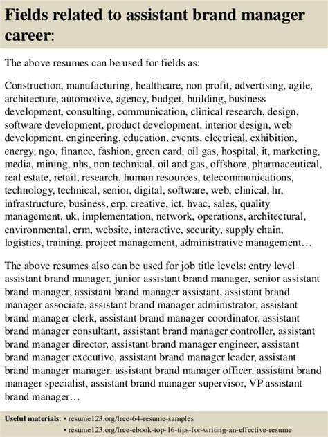 Assistant Brand Manager Resume by Top 8 Assistant Brand Manager Resume Sles