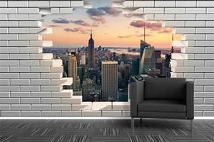 Papier Peint Trompe L Oeil Brique : papier peint original la nouvelle g n ration en 30 exemples ~ Premium-room.com Idées de Décoration