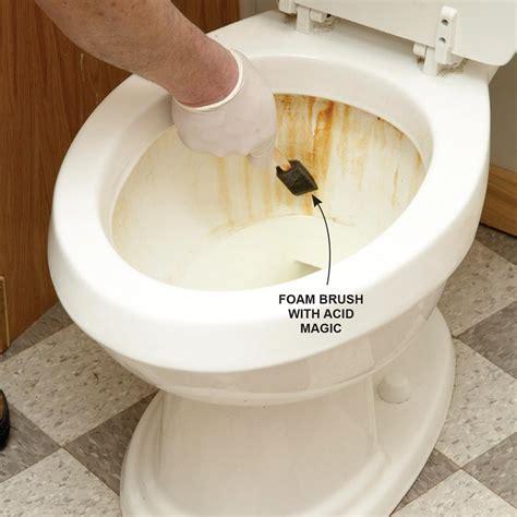cleaning bathroom toilet stains rust remove tips clean water tricks acid stubborn toilets brush hacks bathtub magic everyday better muriatic