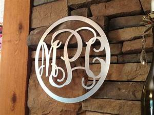 metal vine monogram galvanized steel vine monogram With wrought iron outdoor monogram letters