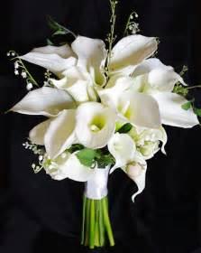 silk baby s breath touch silk calla wedding bouquet