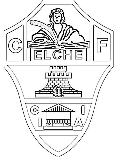 Kleurplaat Spaanse Vlag by Kleurplaat Elche Cf Logo Gratis Kleurplaten