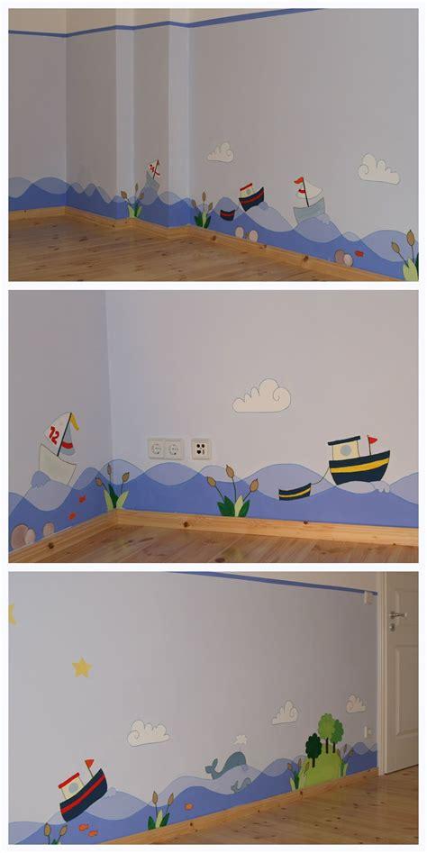 Wandgestaltung Kinderzimmer Kleinkind by Kinderzimmergestaltung Blaurotgrau Kinderzimmer
