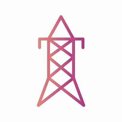 Turm Icon Vecteezy Elektrischer Vektor Iyi Kon