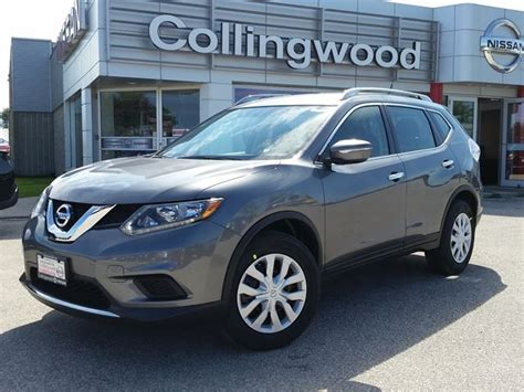 grey nissan rogue 2015 2015 nissan rogue s fwd new grey collingwood nissan
