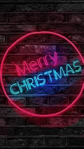 Merry, Christmas, Neon, Sign, 4k, 5k, Wallpapers