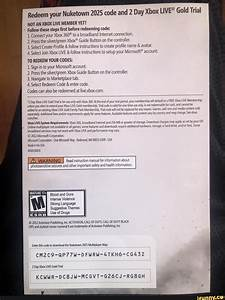 Redeem Your Nuketown 2025 Code And 2 Day Xbox Gold Trial
