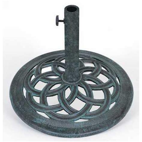parasol base 15 kg cast iron swirl design heavy duty
